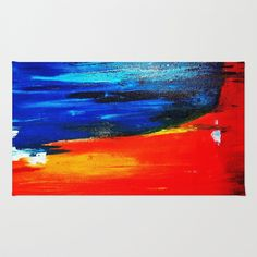 Abstract 20 Area & Throw Rug by  RokinRonda - $28.00