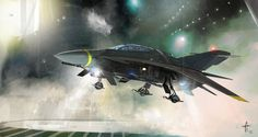 concept ships: Spaceship art by David M. Chambers