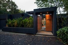 If you love Modern style homes, This is fantastic. Love the lines and the dark grey color.