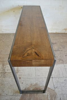 console table on the Modern Industry etsy shop