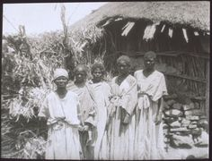 Abyssinia. In a village. - BM Archives
