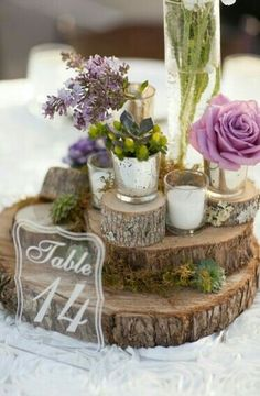 I Love How Earthy And Woodsy This Centerpiece Looks If You Are Having A Rustic Or Shabby Chic Wedding Re Throwing