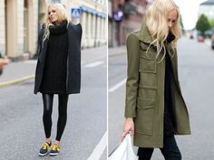 green wool winter coat by Emerson Fry 2012 in military stile