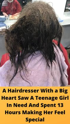 A #Hairdresser With a Big Heart Saw A #Teenage Girl In Need And #Spent 13 Hours #Making Her Feel Special Online Shopping Fails, Grey Hair Transformation, Tattoo Fails, Tangled Hair, Slim Waist Workout, Cute Funny Babies, Natural Eye Makeup, Girl Tips, Biker Girl