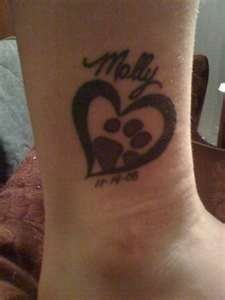 Image detail for -Tattoo titled memorial paw and heart for dog Found on TattooRack ...