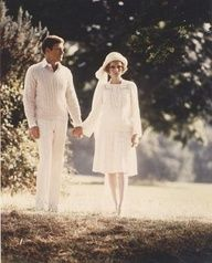 """They were both in white.."" When Nick meets Daisy and Jordan they were both wearing white. Even when Gatsby was going to meet with Daisy he wore white. This was to show the goodness in each of them. It is also to show their pureness. To show their honorably. It also portrays being morally unblemished."