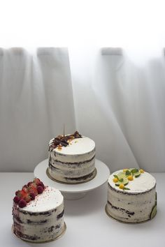 Cakes for a Special Day. Semi Naked Chocolate Cakes (with Berries | Lime&Mango | Hazelnut Mousse)