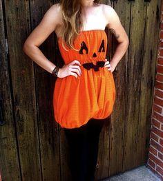 jack o lantern pumpkin romper halloween costume