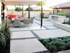 Contemporary courtyard.
