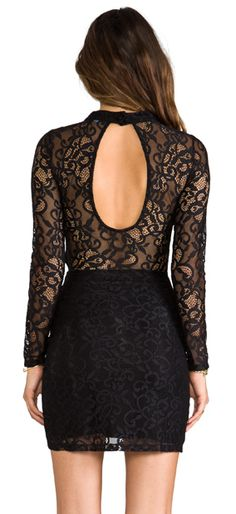 Keyhole Lace Dress