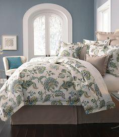 Villa by Noble Excellence Orianna Ikat Floral Comforter Mini Set Blue Comforter Sets, Floral Comforter, Blue Duvet, Bedding Sets, Luxury Duvet Covers, Luxury Bedding, Dream Bedroom, Master Bedroom, Closet Bedroom