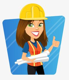 Engineering Girls, Civil Engineering, Powerpoint Background Templates, Engineers Day, Construction Birthday Parties, Labour Day, Hand Embroidery Videos, Construction Logo, Girl Cartoon
