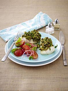 Unser beliebtes Rezept für Zanderfilet in Pistazien-Senfhülle mit Tomatensalat und mehr als 55.000 weitere kostenlose Rezepte auf LECKER.de.