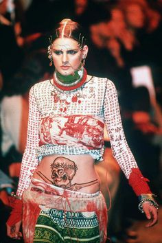 Jean Paul Gaultier SS 94. S)  crazy for this outfit!!!!!!!!!!!!!!!!!