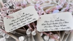 Bubble wands & tags for wedding send off and guest favors |  DivaGoneDomestic.com