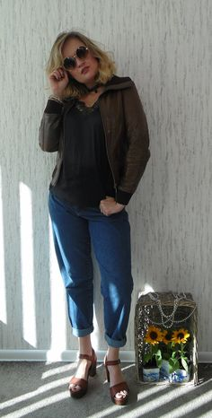 Vintage Rock'n Blue Leather Bkier Jacket size S by SweetSpicyVintage on Etsy