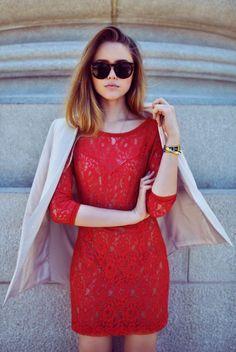 #street #style red lace @wachabuy