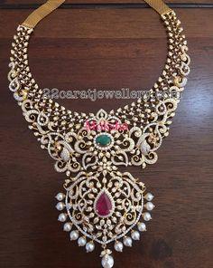 Heavy Diamond Necklace by Moksha