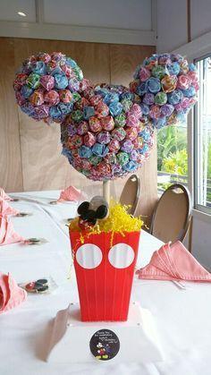 dum dum minnie mouse head | Mickey Mouse Themed Birthday. We stuck dum dum's into styrofoam balls ...