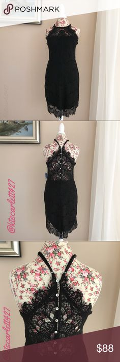 """Free People She's Got It Slip Dress This beautiful dress is brand new with tags.  It is the Intimately Free People """"She's Got It"""".  It is a beautiful lace.  The skirt and front are lined, the back of the top is sheer. Free People Dresses"""