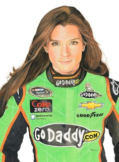 Original 16 x 20 watercolor of Danica Patrick painted for a charity event in Indy---Danica signed the original and is available.