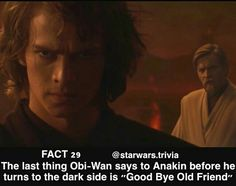 """It's so bittersweet, because Obi-Wan saw Anakin as an equal, but Anakin complained that people didn't treat him like a master. I just wanted to shake him and say, """"But Obi-Wan sees you as a master and equal! Don't turn!"""""""