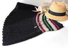 Crochet Cotton Skirt Summer Skirt Black Lace Skirt Beach