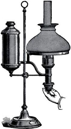 Free Vintage Desk Lamp Image - The Graphics Fairy