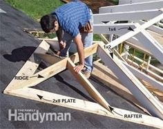 GREAT for building a little extender roof over the front door. or adding a screened in porch on the back of house. Attaching porch roof to existing roof Casa Patio, Patio Roof, Building A Porch, Building A House, Building Plans, Deck Framing, Porch Steps, Diy Deck, Decks And Porches
