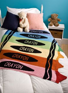 Crayon Blanket - Knitting Patterns and Crochet Patterns from KnitPicks.com. 1.99$ for pattern