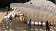 """The """"Swoosh Pavilion"""" was designed and constructed by Architectural Association students"""
