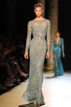 Elie Saab Runway at F/W 2012/2013 Paris Fashion Week - Style Crush: Karlie Kloss - Photos