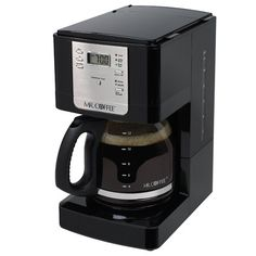 Mr. Coffee JWX23 12-Cup Programmable Coffeemaker, Black - http://teacoffeestore.com/mr-coffee-jwx23-12-cup-programmable-coffeemaker-black/