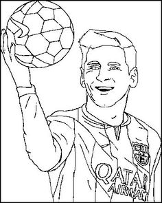 Top 9 Lionel Messi Coloring Sheets for Soccer Fans - Coloring Pages Sports Coloring Pages, Colouring Pages, Coloring Sheets, Messi Drawing, Soccer Drawing, Neymar, Easy Drawings, Pencil Drawings, Leonel Messi