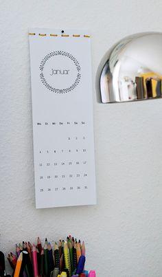kalender 2016, zum ausdrucken, freebie                              …