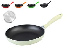 Non-stick Induction Frying Pan - CREAM. Sizes: 24cm / 26cm / 28cm