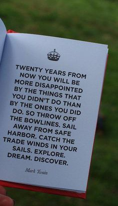 Twenty years from now...