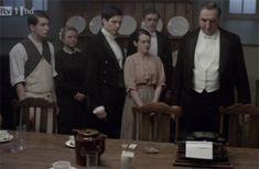 Gwen's curious typewriter on Downton Abbey Season 1 Episode 3
