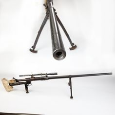 Brophy Anti-Tank rifle - During the Korean War, Major Bill Brophy took a captured Russian PTR anti-tank rifle, mounted a Unertl telescopic sight and a .50 BMG barrel, and he then had one long distance sharpshooting rifle. Today this single-shot is a long ways from the Chosin Reservoir, but come by and see it at much closer range at the NRA's National Firearms Museum in Fairfax, VA.