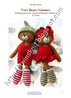Twins' Knitting Pattern MiniShop: Very Beary Gnomes
