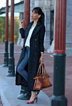Love the jacket and the shoes, very nice look for casual friday at the office - 21 Fashion Trends Winter 2014