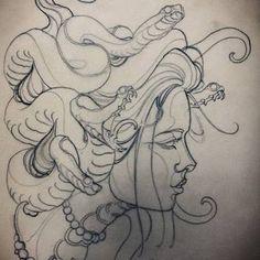 Resultado de imagen para medusa half sleeve tattoo NEO TRADITIONAL