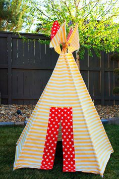 I used this pattern...Children's Teepee Pattern by snikmis2 on Etsy