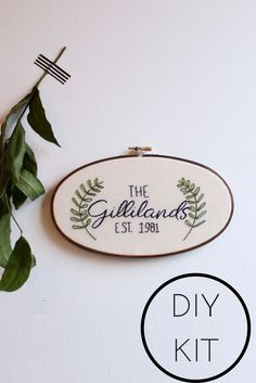 Personalized Embroidery Kit