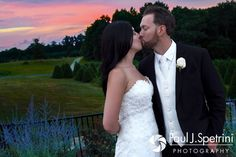 Lauryn and Justin pose for a sunset photo during their July 2016 wedding reception at the Overlook at Geer Tree Farm in Griswold, Connecticut.To see more photos from Justin and Lauryn's wedding, please visit http:// www.tinyurl.com/JustinAndLauryn (Copyright 2016: Paul J. Spetrini Photography)