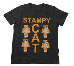 Black Stampy Cat T Shirt Years Tee Cool Kids Clothing Stampy Cat Minecraft, Cool Minecraft, Minecraft Party, Minecraft Skins, Minecraft Outfits, Minecraft Clothes, Funny Animal Quotes, Cat Birthday, Homemade Christmas