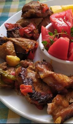 Greek Recipes, Pork, Food And Drink, Beef, Cooking, Ethnic Recipes, Friends, Basel, Kale Stir Fry