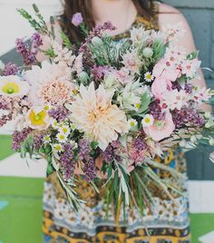 I love how full the bouquet is and the variety and placement of the flowers.