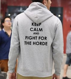 World of Warcraft hoodie plus size keep calm and fight for the horde fleece sweatshirt