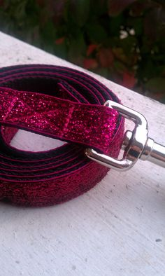 Pink Bling  Dog Leash 3/4 by TheEmPURRium on Etsy, $14.00